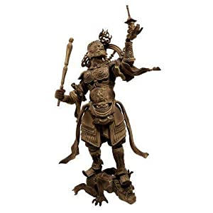 Kaiyodo Takeya Revoltech # 001: Tamonten Action Figure wooden version Comic Book