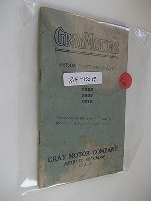 Gray Motors - Repair Parts Price List