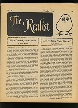 THE REALIST No. 70 - October 1966: Krassner, Paul (editor)