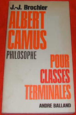 Albert Camus philosophe, pour classes terminales.