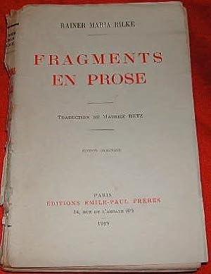 Fragments en prose.: RILKE (Rainer Maria)