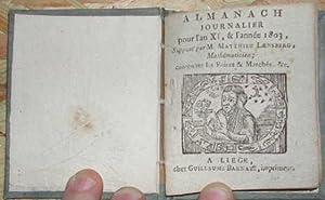 Almanach journalier pour l'an XI & l'année: LIVRES ANCIENS] LAENSBERG