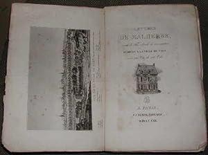 Lettres de Malherbe, dédiées a la ville: MALHERBE (François de)