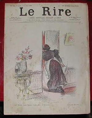 N° 105. 3ème Année. 7 Novembre 1896. Couverture de Willette.: JOURNAL LE RIRE