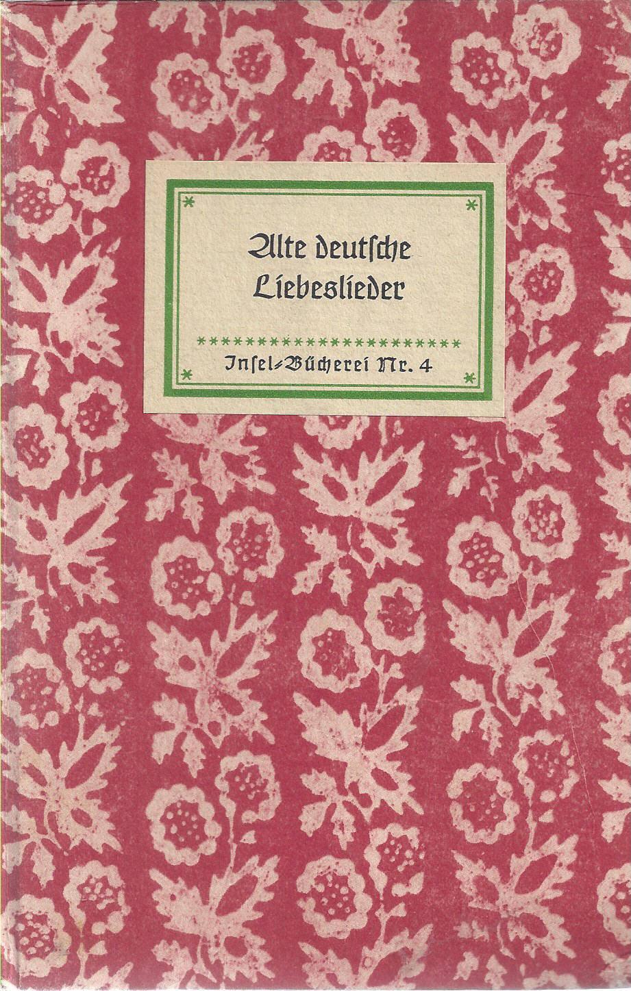 alte liebeslieder deutsch
