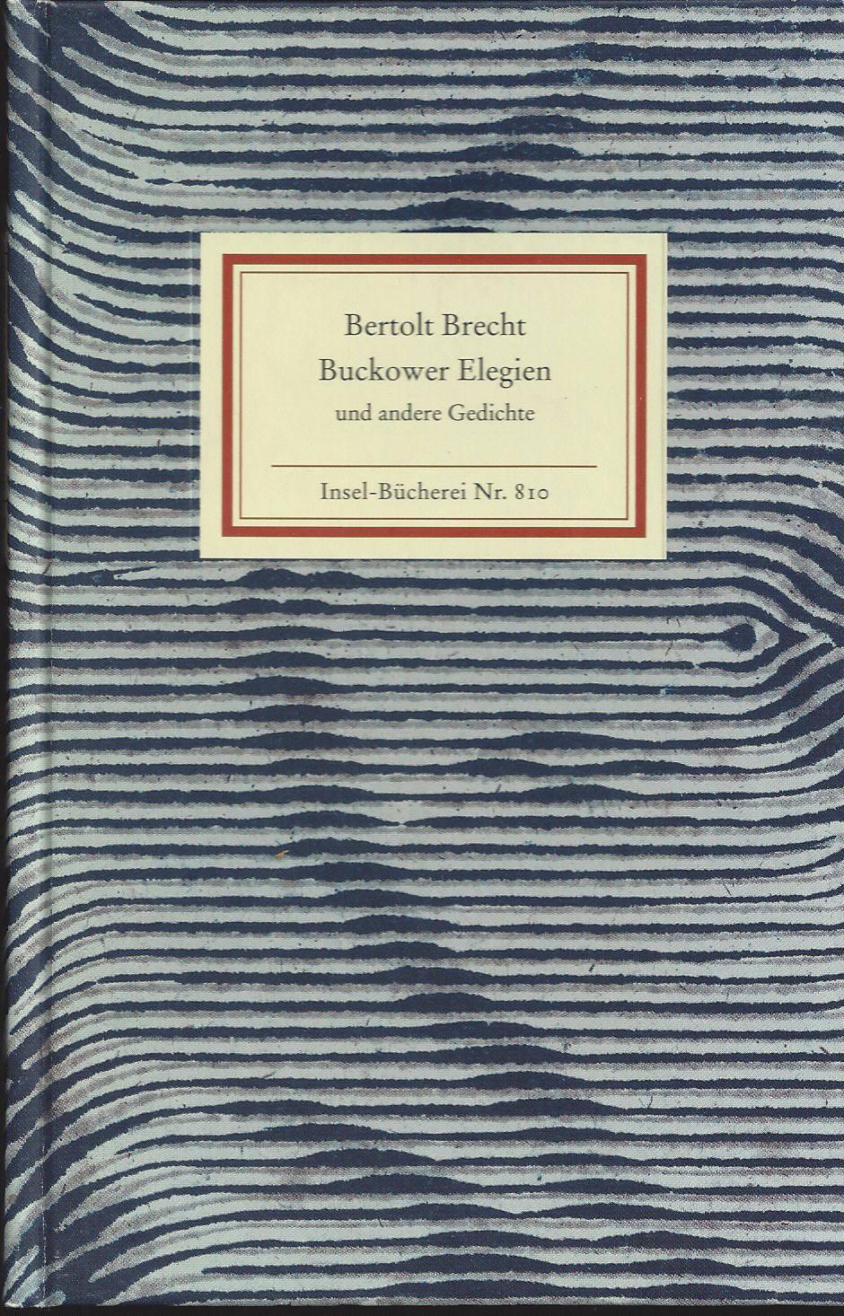 Brecht gedichte verzeichnis