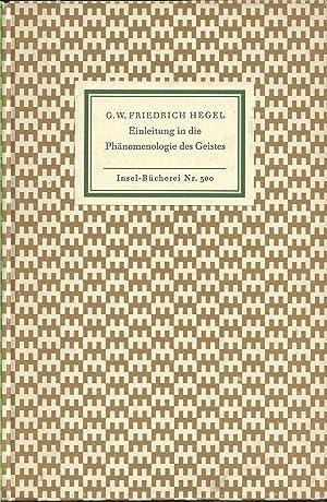 Einleitung in die Phänomenologie des Geistes. Mit einem Nachwort von Karl Löwith.: Hegel, Georg ...