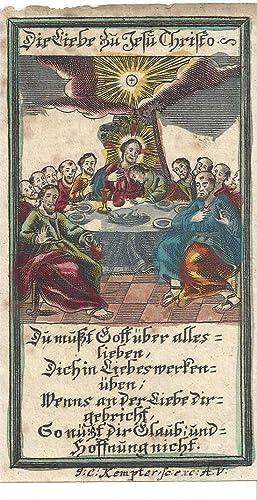 Das letzte Abendmahl. Die Liebe zu Jesu