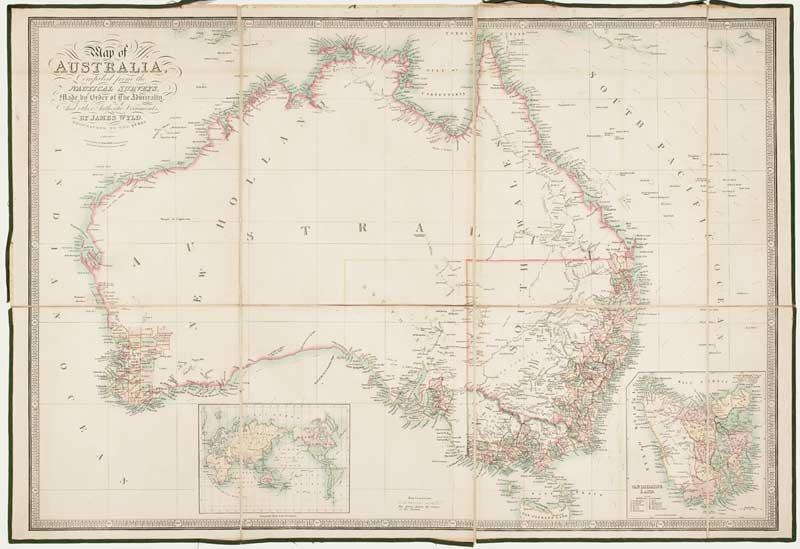 Map of Australia, Compiled from the Nautical: WYLD, James.
