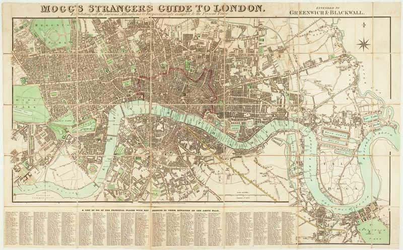 London Map Guide.Mogg S Strangers Guide To London Exhibiting