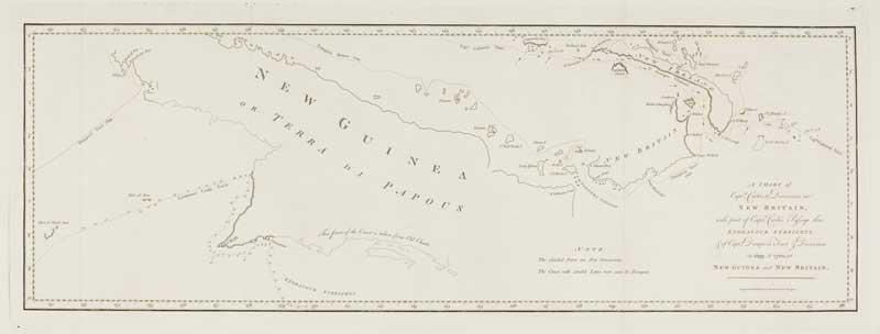 A Chart of Capt.n Carteret's Discoveries at: COOK, Captain James.