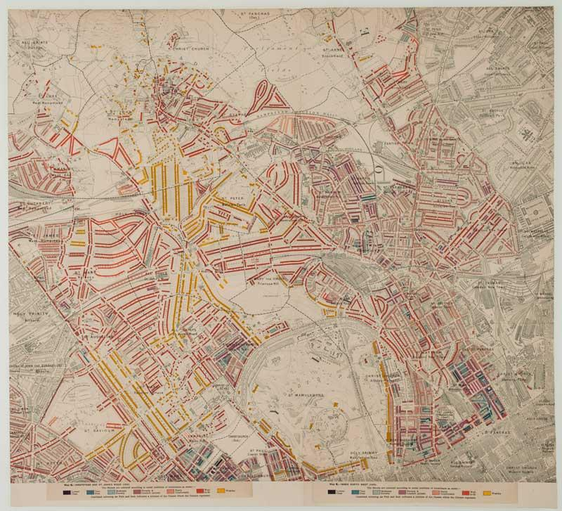 Map Of London 1900.Map G Hampstead And St John S Wood 1900 Map E Inner North