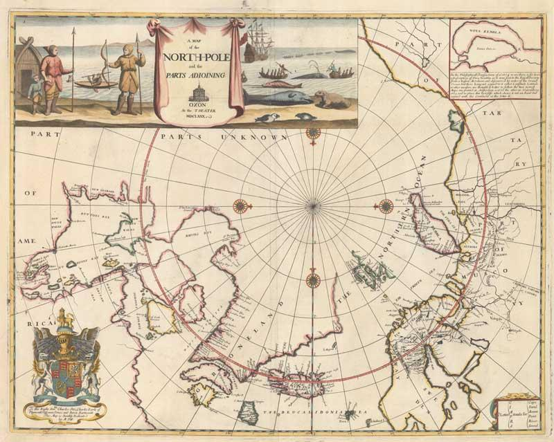 A Map of the North-Pole and the Parts ...