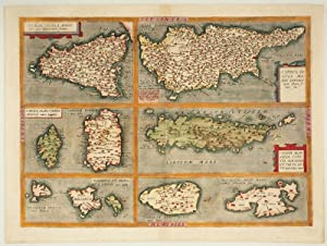 Sicilia Insula Maris.; Cyprus Insula Maris.; Corsica: DE JODE, Gerard.