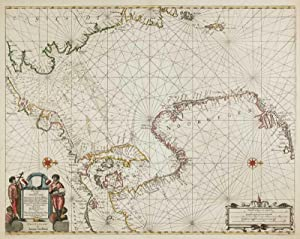 Pascaart vande Noort-Zee. Tabula Hydrographica Oceani Borealis.: JANSSON, Jan.