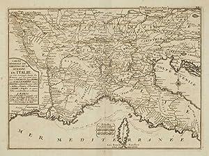 Carte Generale du Theatre de la Guerre en Italie ou sont marquées les Routes que l'on ...