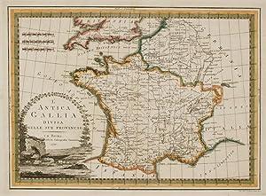 L'Antica Gallia divisa nell sue Provincie.: CASSINI, Giovanni Maria.