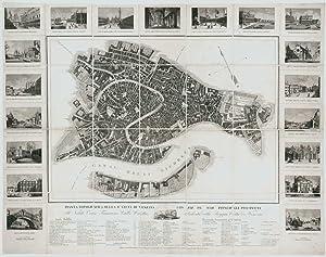 Pianta Topografica della R.a Città di Venezia: SANTO VALLARDI, Francesco.