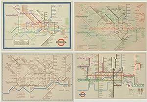 A set of folding card maps of: LONDON TRANSPORT.