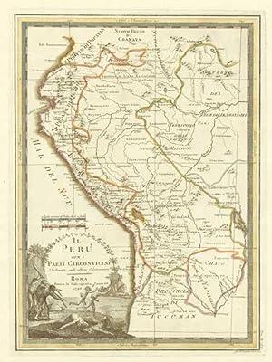 Il Peru con i Paesi Circonvicini Delineato: CASSINI, Giovanni Maria.
