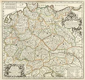 Carte de l'Empire d'Alemagne.: DU VAL, Pierre.