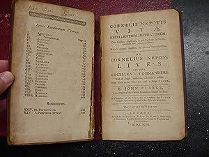 Cornelii Nepotis Vitae Excellentium Imperatorum: Cum Versione Anglicana, in qua Verbum de Verbo, ...