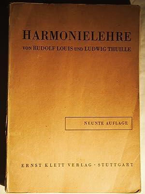 Harmonielehre.: Rudolf Louis/Ludwig Thuille