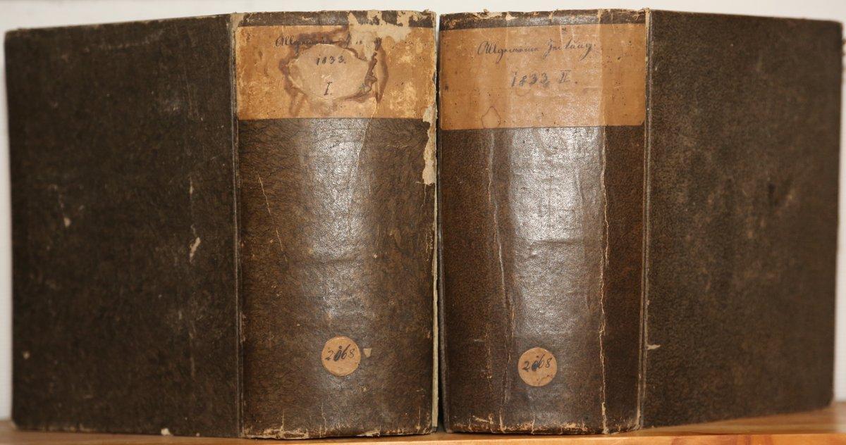 Jahrgang 1833. 4 Quartale in 2 voluminösen: Allgemeine Zeitung: