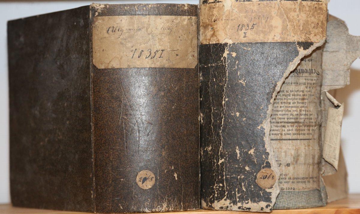 Jahrgang 1835. 4 Quartale in 2 voluminösen: Allgemeine Zeitung: