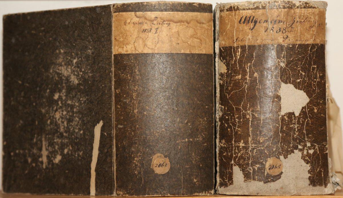 Jahrgang 1838. 4 Quartale in 2 voluminösen: Allgemeine Zeitung: