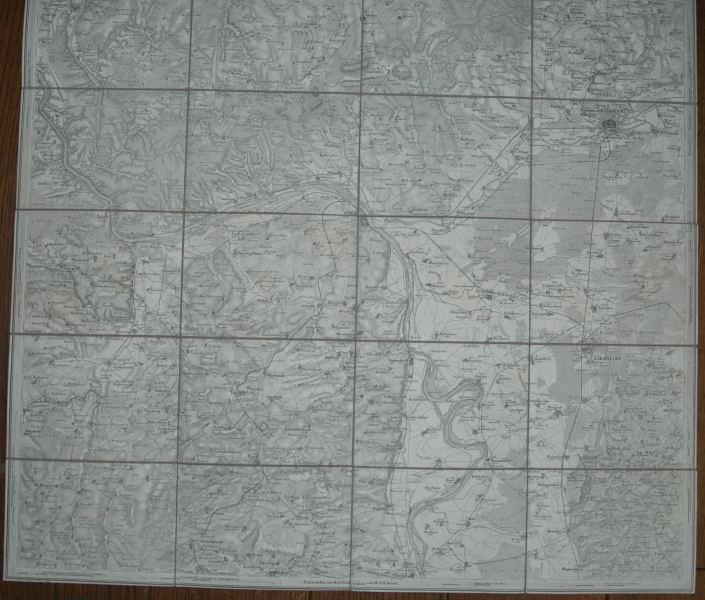 Karte der Umgegend von Mainz und der: Wörl, J. E.: