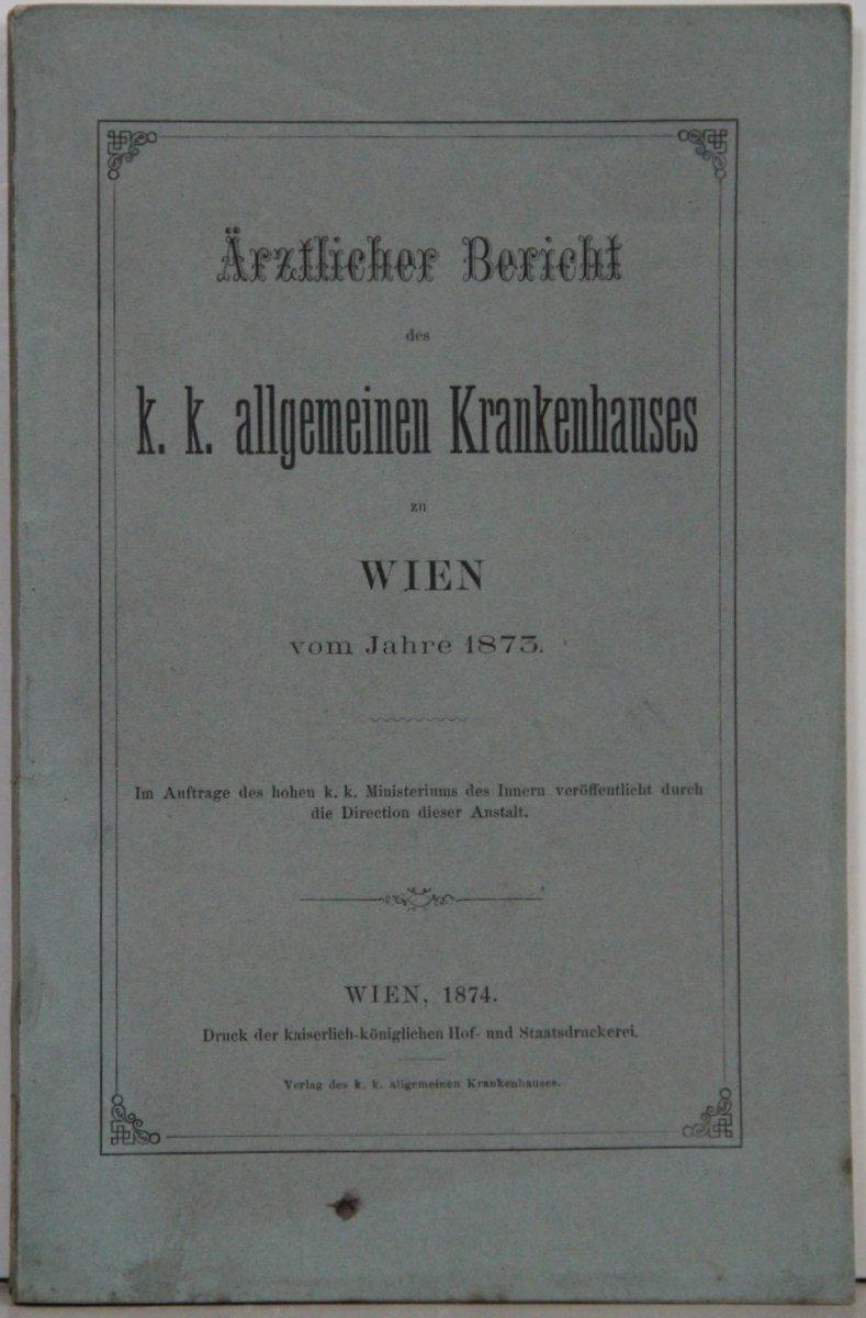 wiener allgemeines krankenhaus - ZVAB