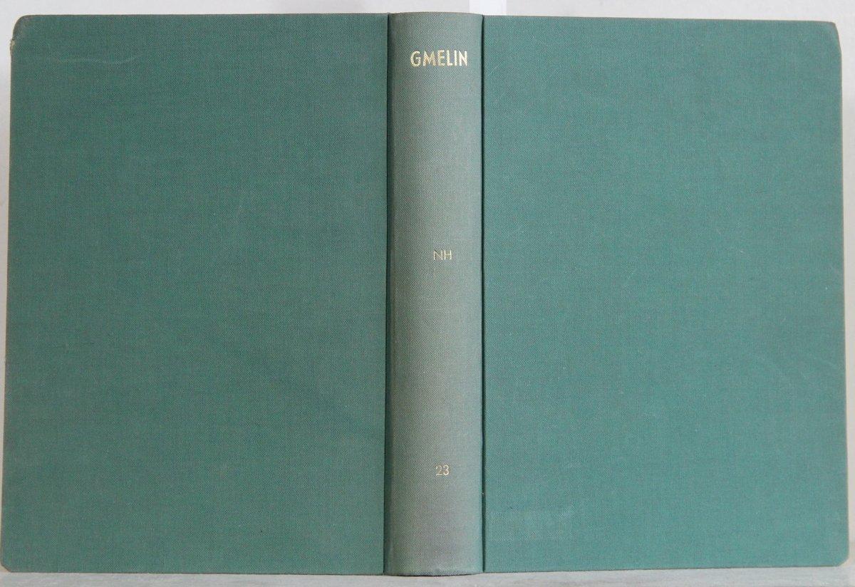 """"""" Gmelins Handbuch der anorganischen Chemie"""""""