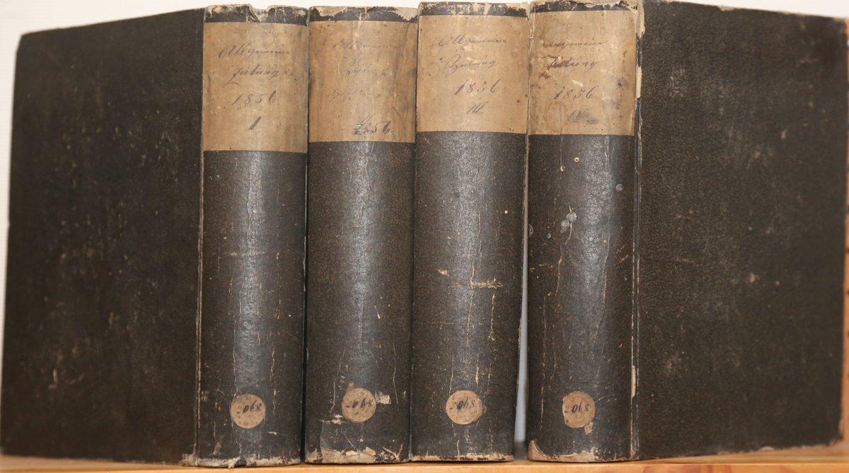 Jahrgang 1856. 4 Quartale in 4 Bänden.: Allgemeine Zeitung: