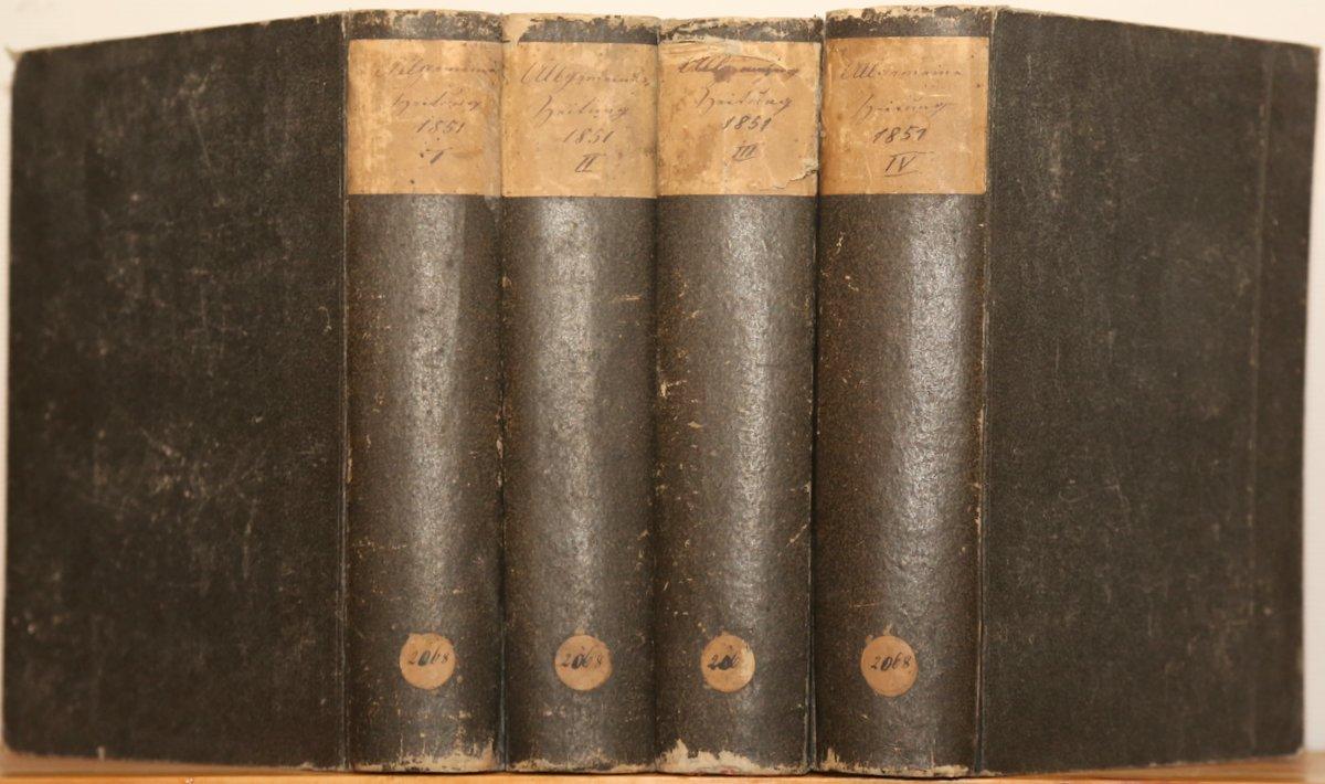 Jahrgang 1851. 4 Quartale in 4 Bänden.: Allgemeine Zeitung: