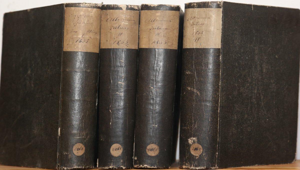 Jahrgang 1855. 4 Quartale in 4 Bänden.: Allgemeine Zeitung:
