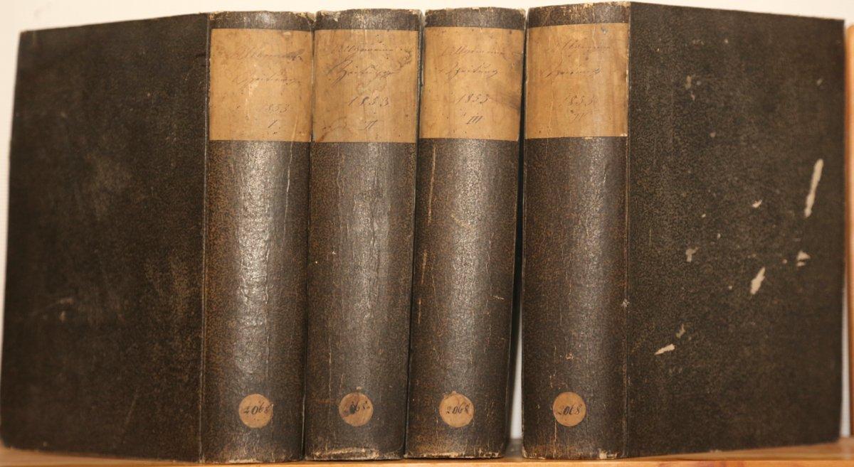 Jahrgang 1853. 4 Quartale in 4 Bänden.: Allgemeine Zeitung: