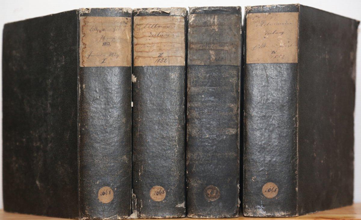 Jahrgang 1852. 4 Quartale in 4 Bänden.: Allgemeine Zeitung:
