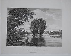 Tomb of Rousseau on the island of: Merigot, James (1760-1824):