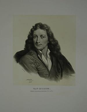 Portrait. Bildnis in Brustfigur nach viertellinks. Getönte: Huysum, Jan van