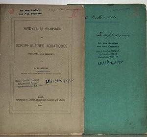 Lot of 2 offprints: 1. Note sur: Mortier, B. du:
