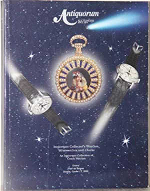 Important collector's watches, wristwtches and clocks. An: Antiquorum Auctioneers: