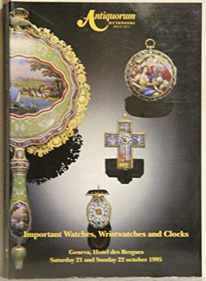 Important Watches, Wristwatches and Clocks. Geneva, Hotel: Antiquorum Auctioneers: