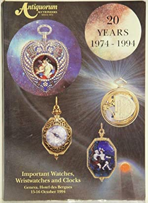 Important watches, wristwatches and clocks. 20 Years: Antiquorum Auctioneers: