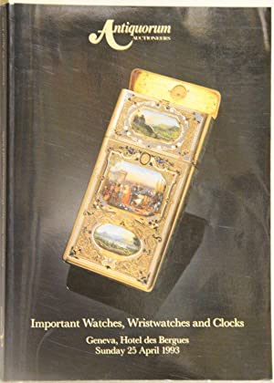 Important Collectors' Watches, Wristwatches and Clocks. The: Antiquorum Auctioneers: