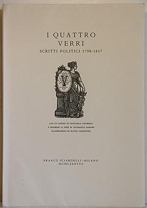 I quattro Verri scritti politici 1790-1817 con: Vigorelli, Giancarlo:
