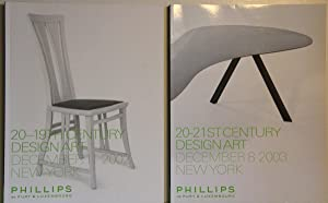 20-19th Century Design Art. December 11 2002. / 20-21 St. Century Design Art 2003. 2 volumes.