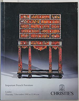 Important French Furniture. London Thursday, 7 December 1995. Auktionskatalog.