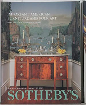 Important American Furniture an Folk Art. From the estate of Andrew D. Wolfe. Auction New York Sa...
