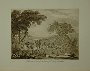 Landscape. From the original drawing in the collection of the Duke of Devonshire: A beautiful Lan...